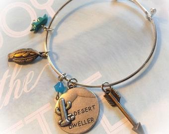Desert dweller, desert rat, desert bangle, desert jewelry, desert bracelet