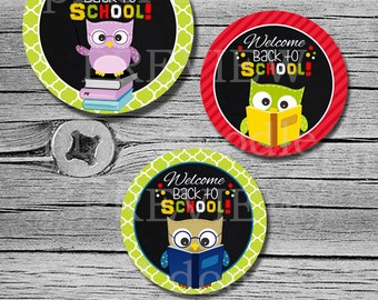 Back to school tags - back to school toppers - 2.5 inch - cupcake toppers - INSTANT DOWNLOAD - (digital file)