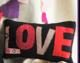 "Valentine ""LOVE"" Decorative Accent Pillow"