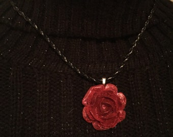 Beautiful Red Rose Necklace