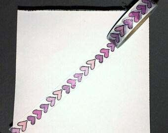 Skinny Pink Heart Washi Tape WT1052SH