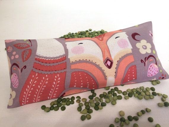 Lavender Animal Eye Pillows : Organic Lavender Eye Pillow Fox aromatherapy heat pack