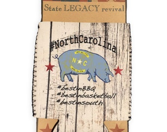 North Carolina Best in BBQ Pig Can Cooler