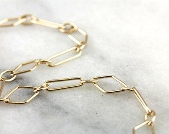 Polished Geometric Link Bracelet  4LDTR2-D