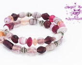 Pink Frosted Memory Bracelet
