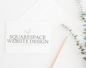 SquareSpace Website Design with up to 6 Pages Included - Photography Website Design - Wedding Website - DEPOSIT