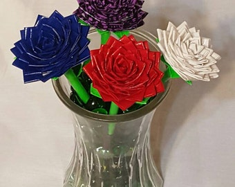 Rose Duct Tape Pen - Realistic Rose Duct Tape Pen - Pointed Rose Duct Tape Pen - Duct Tape Flower Pen - Flower Pen