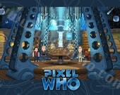 Pixel (8 bit) 8th Doctor Console Room Print