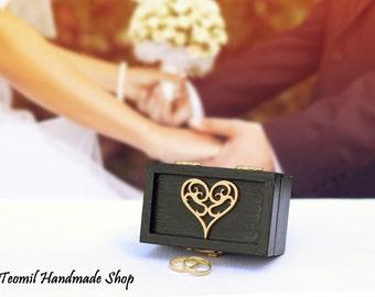 Ring Box, Ring Holder., Wedding Ring Bearer Box, Ring Pillow