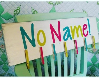 Custom Classroom Sign. No Name Papers. Teacher Gift Idea. End of the Year Gift. Nameless Papers. Back to School. Hand Painted Teacher Decor.