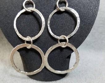 Fused fine Silver earrings
