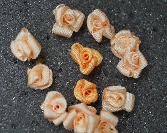 Miniature Handmade Silk Ribbon Roses