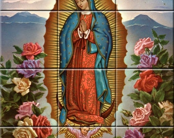 Ceramic Tile Mural Virgen de Guadalupe #3