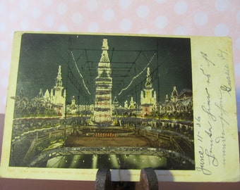 1906 glitter Post Card from Luna Park, Coney Island NY