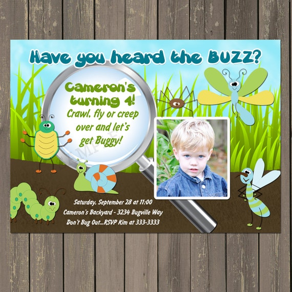 Bug Birthday Party Invitation Bug Party Invitation Boys Insect – Insect Birthday Invitations
