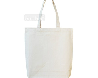 Canvas Tote Bag, DIY Tote Bag, Canvas Favor Bag, Heavy Duty Canvas Bag, Grocery Bag, Wedding Canvas Bag
