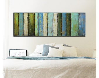 Painting, Abstract Art, Canvas Wall art, PANELS GRASS LANDSCAPE 459, On canvas, Original Art, Landscape Art, Abstract Painting
