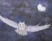 Warrior Owl in Flight Art...