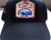 """Friday The 13th """"Camp Crystal Lake counsler"""" trucker cap Jason Voorhees slasher"""