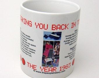 1983 Taking You Back In Time Coffee Mug