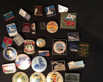 Badge vintage set 31 pcs. Russia, USSR
