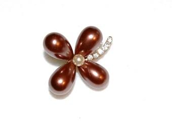 Four Leaf Clover Pearls Vintage