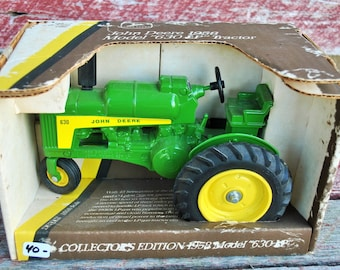 Vintage Die Cast Metal John Deere 1958 Model 630 LP Tractor Collectors Edition