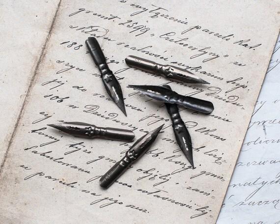 Lot Of 6 Unused Vintage Fountain Pen Nibs Calligraphy