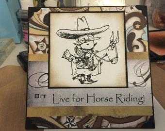 Western Cowboy Card A28