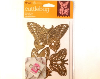 Cricut Cuttlebug Cut & Emboss Dies  BUTTERFLY TRIO  cutting dies by Cricut 1.cc52