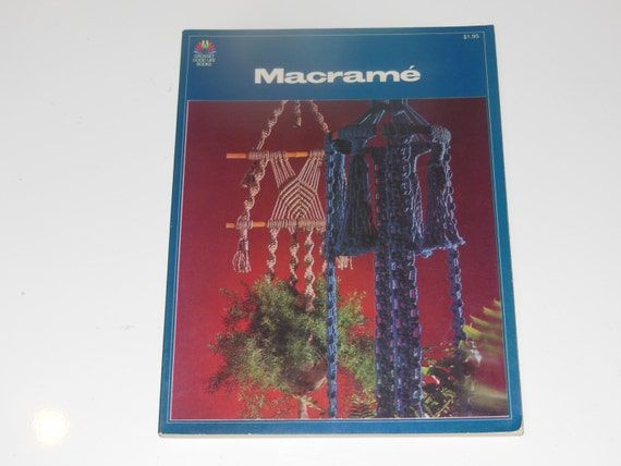 Macrame Book Cover Tutorial : Vintage macrame how to do it softcover book from