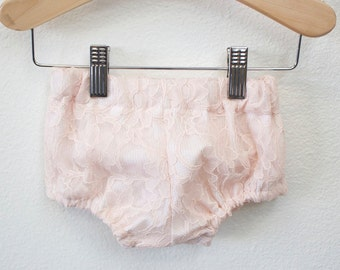 Blush Pink Lace Bloomers for Babies and Toddlers