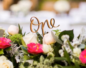 Wooden Table number for your event or wedding table