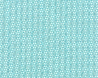 1/2 Yard - Summerfest Ice Pop Blue Dots Fabric by April Rosenthal - 24032 17