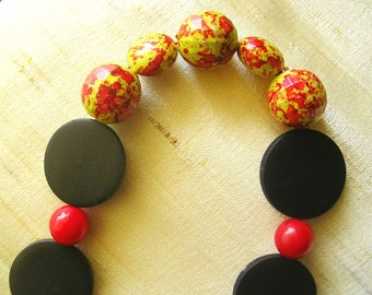 Black and Red Long necklace