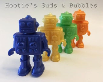 Robot Soap - Glycerin Soap - Scented with Fruit Loops