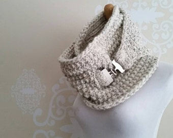 Ring and Clasp Infinity Scarf - Made To Order