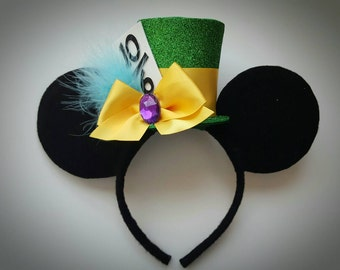 Mad Hatter  inspired Minnie Mouse Ears Headband