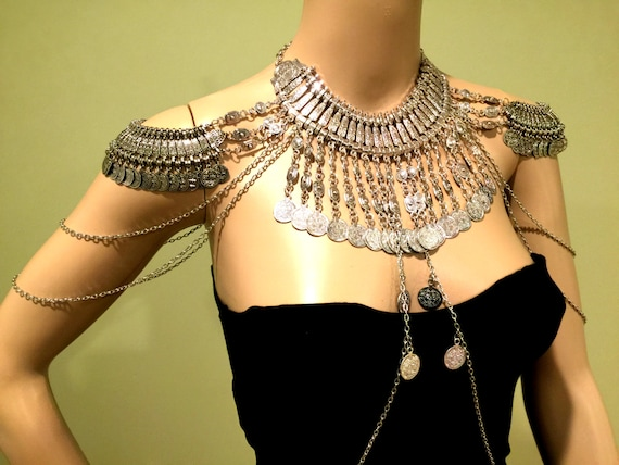 Shoulder Jewelry. Shoulder Chains. Body Chains Top. by MirelaS