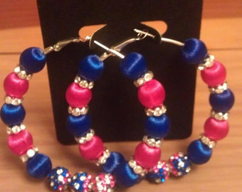 Basketball wives inspired patriotic earring