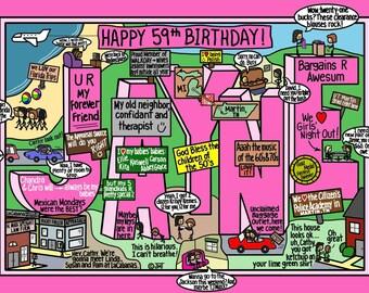 Personalized Name Birthday Card - Jayne