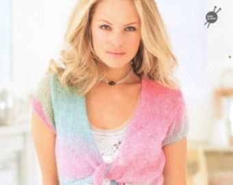 Rico Easy knitting pattern 139 - Knitting Idea Compact, Long and Short cardigan Knitting Patterns, Knitted Summer Accessories, Learn to Knit