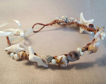 Seashell and Pearl Headpiece
