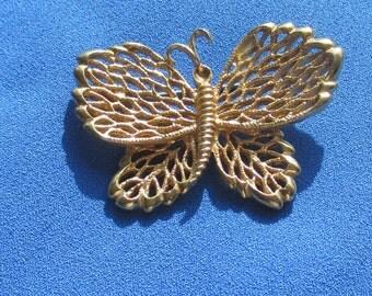 Vintage Napier Butterfly Metal Brooch