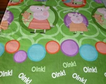 Peppa Pig single size bedspread