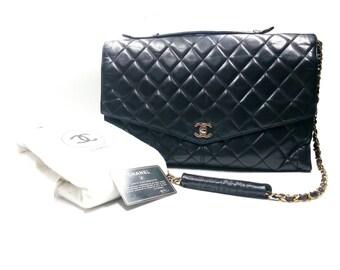 Vintage Excellent Chanel Jumbo 2 Way Business Bag