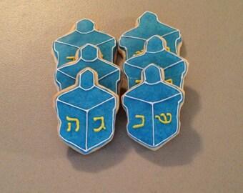 Dreidel Sugar Cookies