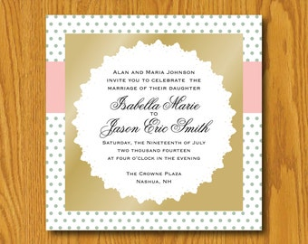 Digital Wedding Invitation Template