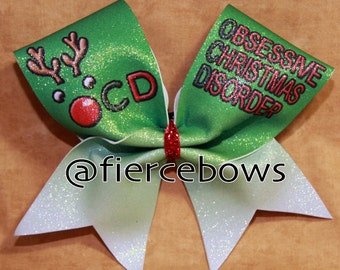 Obsessive Christmas Disorder Cheer Bow