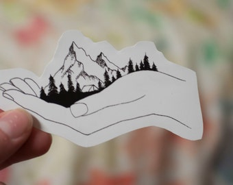 Mountains Vinal Decal: Laptop Sticker
